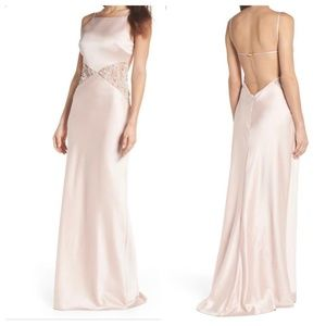 Maria Bianca Nero Lana Satin Backless Gown